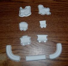 Locomotive train & track set plaster of Paris painting project. Set of 25!