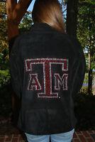 Texas A & M Rhinestone Bling Jacket Xs S M L Xl Xxl