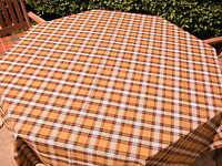 Tartan Home - Tablecloth - - Camel Stewart Modern- App 142 Cm X 146 Cm