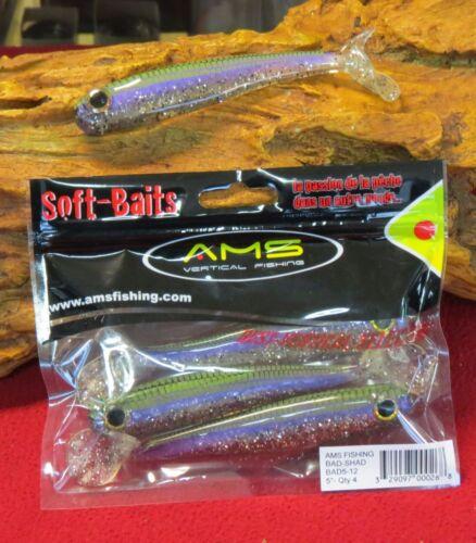 "leurre souple ams fishing bad shad 5/""-12.5cm"