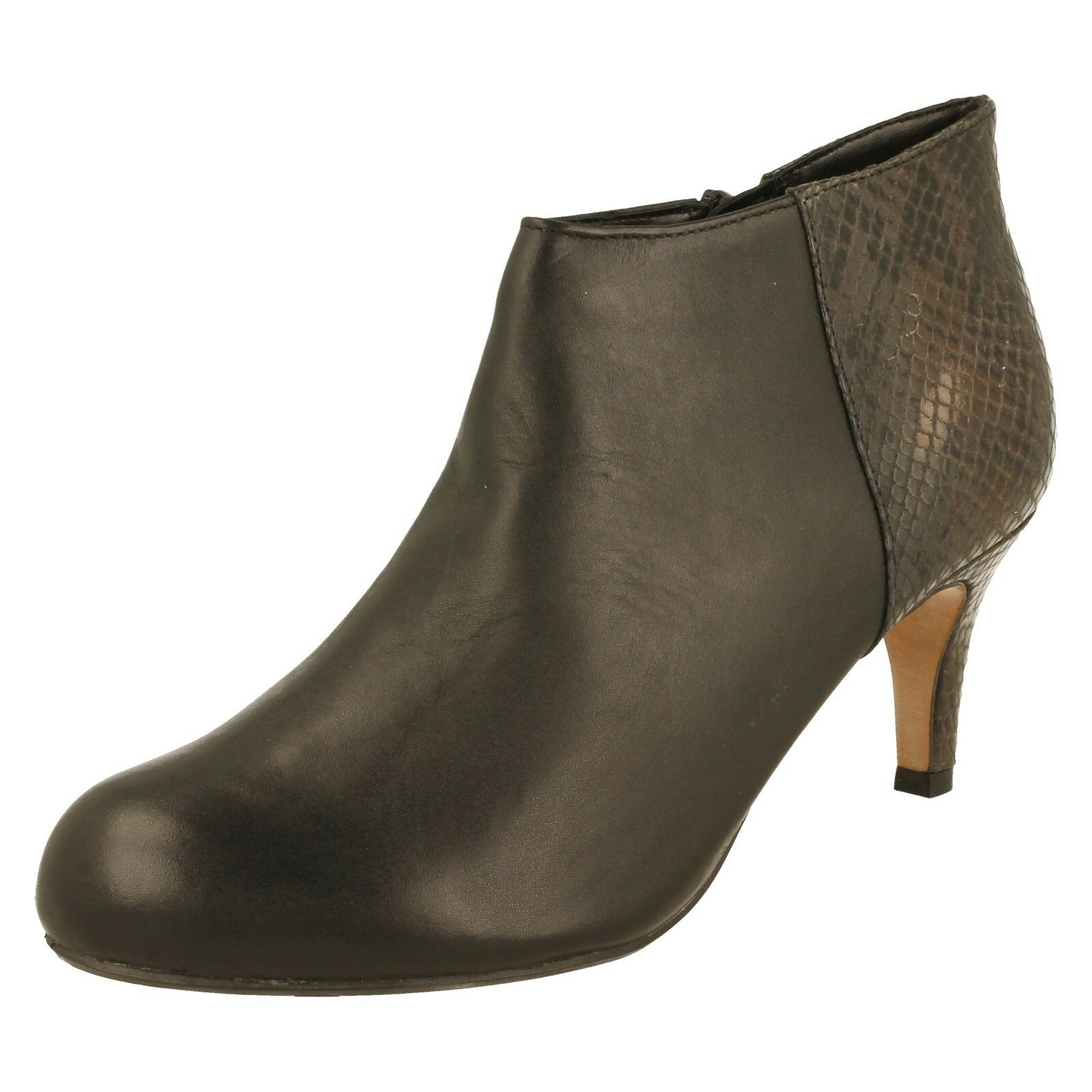 Damas Clarks Tacón Alto Pantalones Boot-Arista Flirt 4