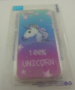 fits-iPhone-6-plus-7-amp-8-plus-phone-cover-100-Unicorn-sparkle-blue-pink-star