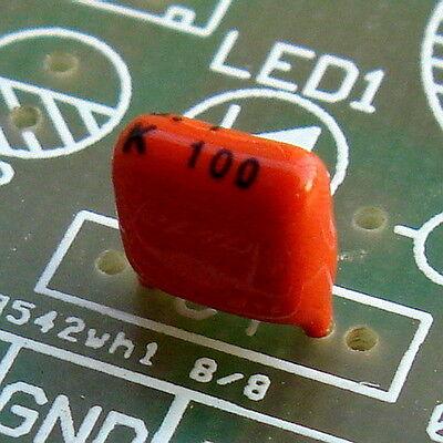 20x 100nF 100V MKT Metallized Polyester Film Capacitor, 0.1uF.