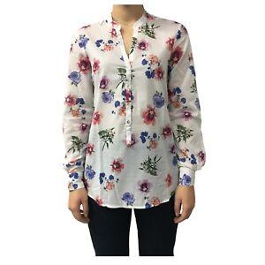 Modello Cotone Camicia 100 fiori And Bianca Donna D774e846l nYrIwYqA
