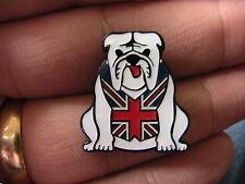 British Bulldog MOTO BIKER PIN BADGE MOTO RACING UK Union Jack Cane