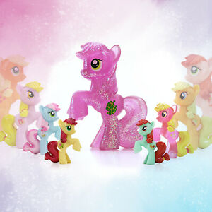 """Cake Topper Party Favor Toys My Little Pony Mini Loose Blind Bag 2/"""" Figures"""