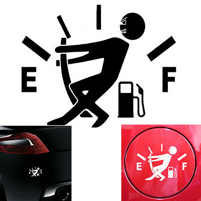 JDM Funny Pull Fuel Tank Pointer To Full Hellaflush Vinyl Car Sticker Decal