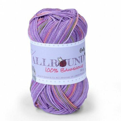€ 6,60//100g plus lana Allround color 50g 100/% algodón lavable FB 702 lila