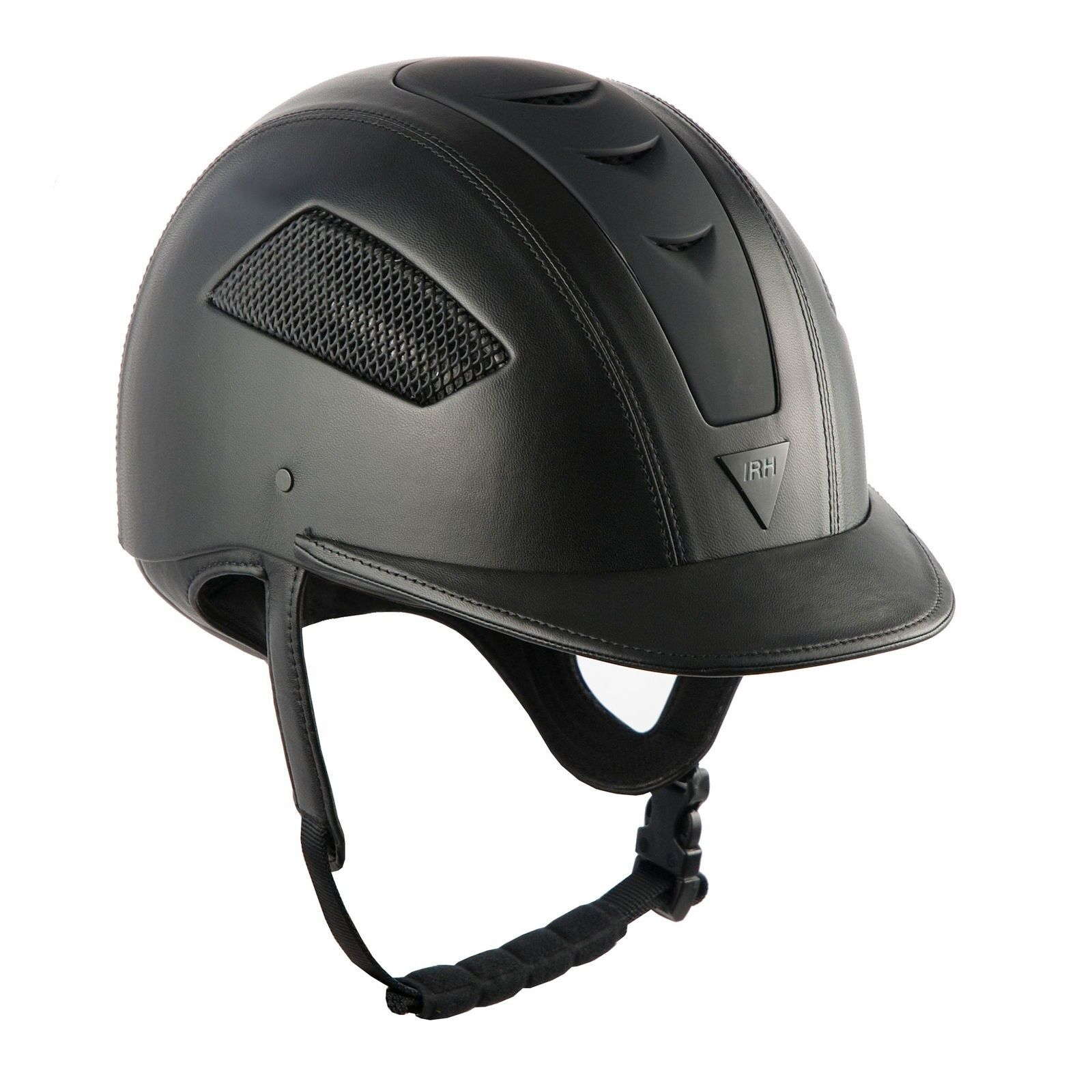 IRH Elite Ultra Riding Helmet Leather Coverosso with Matte Finished Vents
