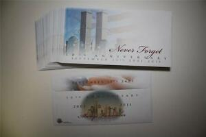 Lot-of-40-Cachet-Envelopes-9-11-WORLD-TRADE-CENTER-10th-Anniversary-Never-Forget