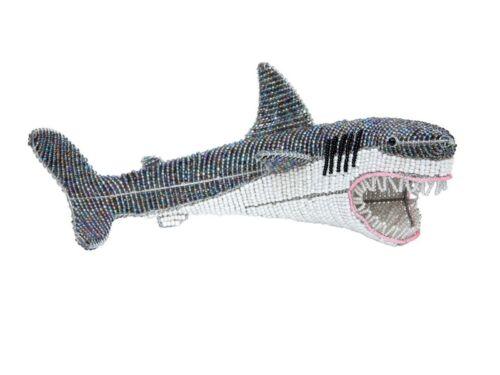 Beadworx ~ grand requin blanc ~ ~ de Perles Animal Cadeau Fabriqué à la main ~ ~ Ornament
