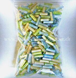 Super-schoene-Rocailles-Glas-Stiftperlen-3-Farben-Mix-mit-Regenbogeneffekt-20g