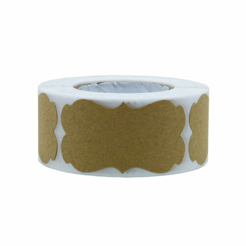 300pcs Retro Blank Kraft Label Sealing Sticker For Gift Cake Baking Packaging