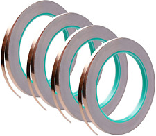 4 Pack Copper Foil Tapedouble Sided Conductive With Adhesive For Emi Shielding
