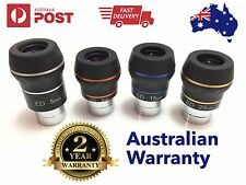 """4 x Dual ED 1.25"""" eyepiece for telescope - Choose your Focal Length! Flat field"""