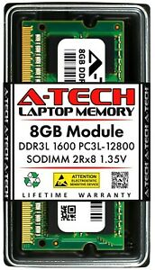 A-Tech 8GB DDR3 1600 PC3-12800 Laptop SODIMM 204-Pin Memory RAM PC3L DDR3L 1x 8G