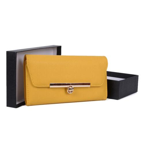 NUOVE moda donna giallo Chic Borsetta//Portafoglio /& Lock Dettagli-L19.5xW3xH10 HB17