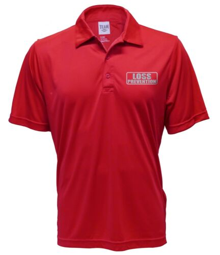 moisture wicking Performance Polo Loss Prevention Red Polo REFLECTIVE design