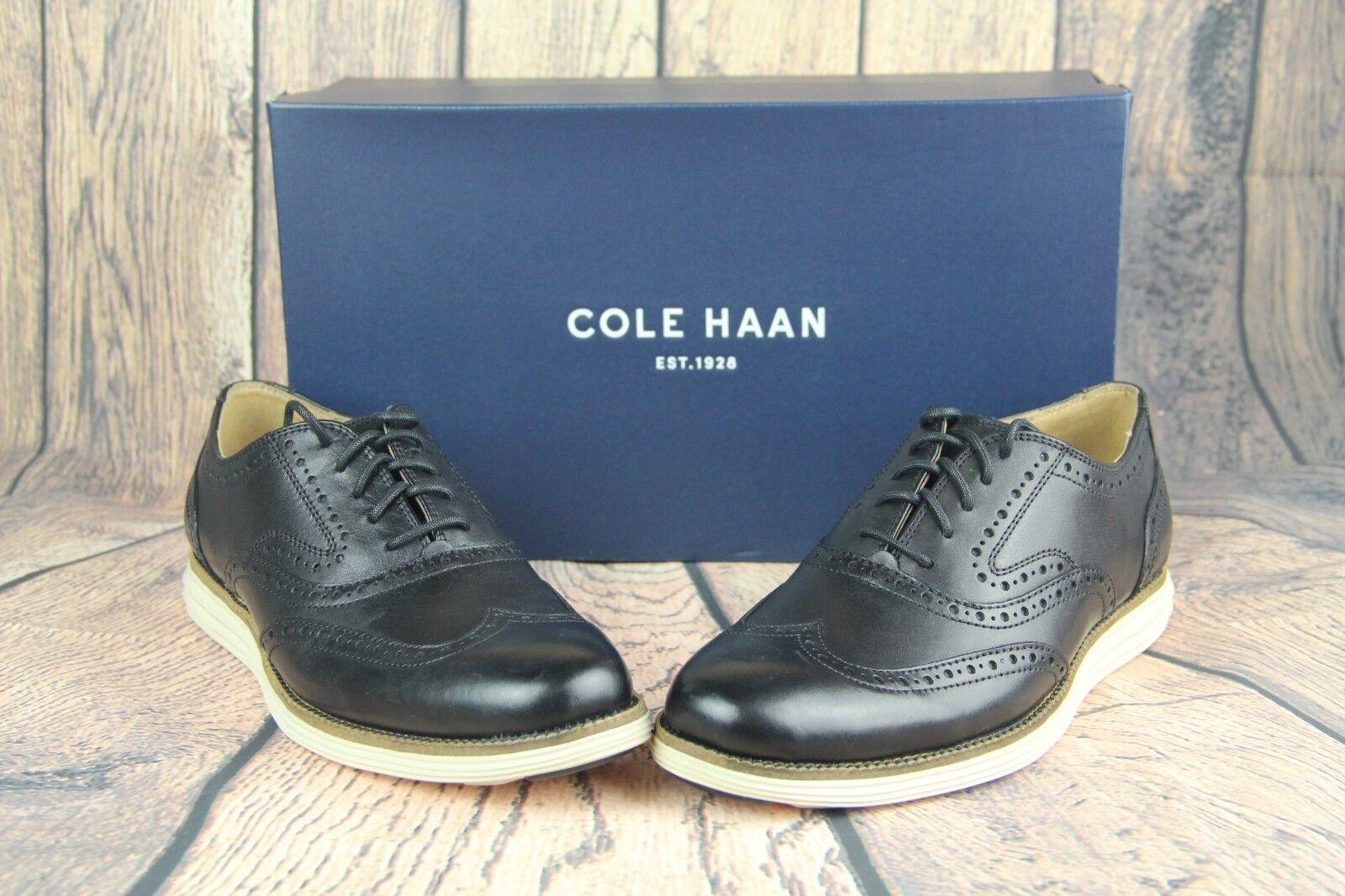 Cole Haan Mens O.Original Grand Short Wing Ox II Oxford Black Ivory C21130 SZ 7W