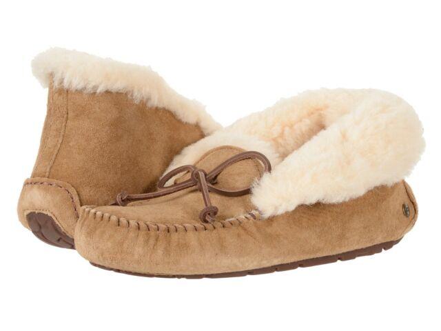 23fa086908c3 UGG Australia Alena Suede MOC Toe Slippers Women s Size 7 Chestnut ...