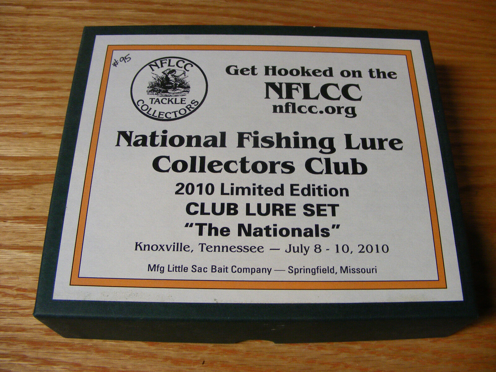2010 Nationals NFLCC Club 3 Lure Set made by Little  Sac Bait Co  authentic quality