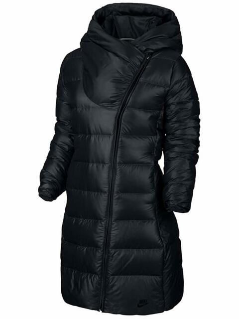 Nike Sportswear Down Fill Reversible coat//Jacket 939440-010 Black//White XS//S//M