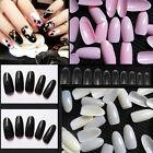 Lot 500 PCS Oval French False Nails Art Tips Full Round Acrylic UV Gel Nail Tips