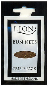 Lion Bun Nets Light Brown x150 (50 Triple Packs) Ballet,Dance,Gym,Horseriding