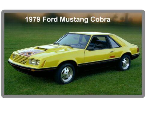 Tool Box Magnet 1979 Ford Mustang Cobra  Auto  Refrigerator