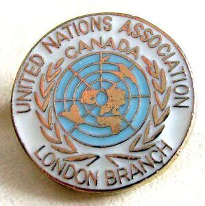 Canadian-United-Nation-U-N-Association-CANADA-London-Branch-Lapel-Pin
