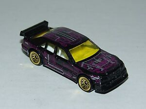Hot-Wheels-Mercedes-C-Class-Black-Clear-Windows-Gold-LW-039-s-Malaysia-1998