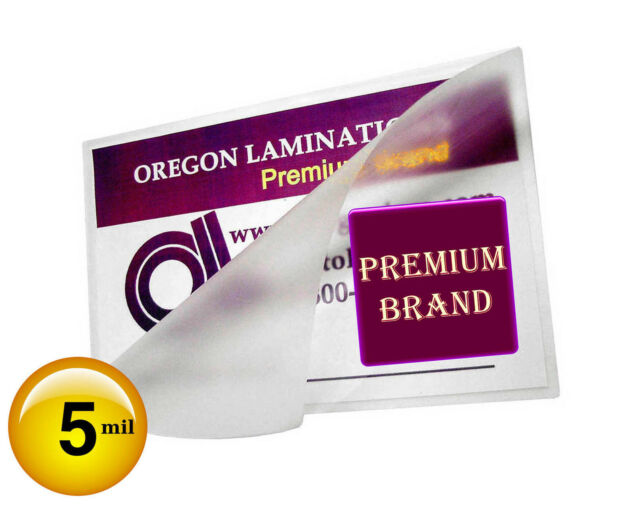 6 x 9 100 5 Mil Laminating Pouches Laminator Sheets Half Letter Size Quality