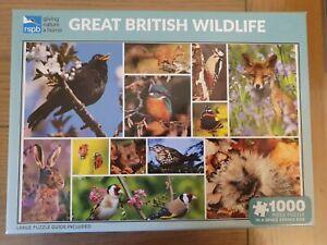GPS-Jigsaw-034-Great-British-Wildlife-jigsaw-1000-pieces-Nice-Clean-condition-utilise
