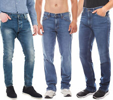 MUSTANG Hose Denim klassische Herren Jeans Freizeit Blau Markenjeans Jeanshose