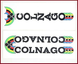 NOS ORIGINAL COLNAGO SUPER MEXICO DOWN TUBE BLACK DECAL VINTAGE 70s