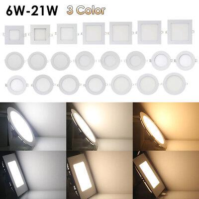 LED Panel Einbau Decken Wandleuchte Einbaustrahler Leuchte 85~265V mit Trafo 6D