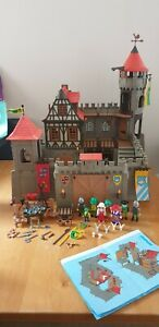 Vintage-Playmobil-3666-chevaliers-medievaux-Chateau-Grand-Lot