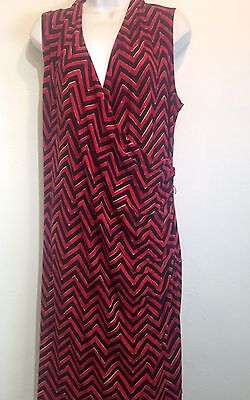 lauren ralph lauren red black dress 2X