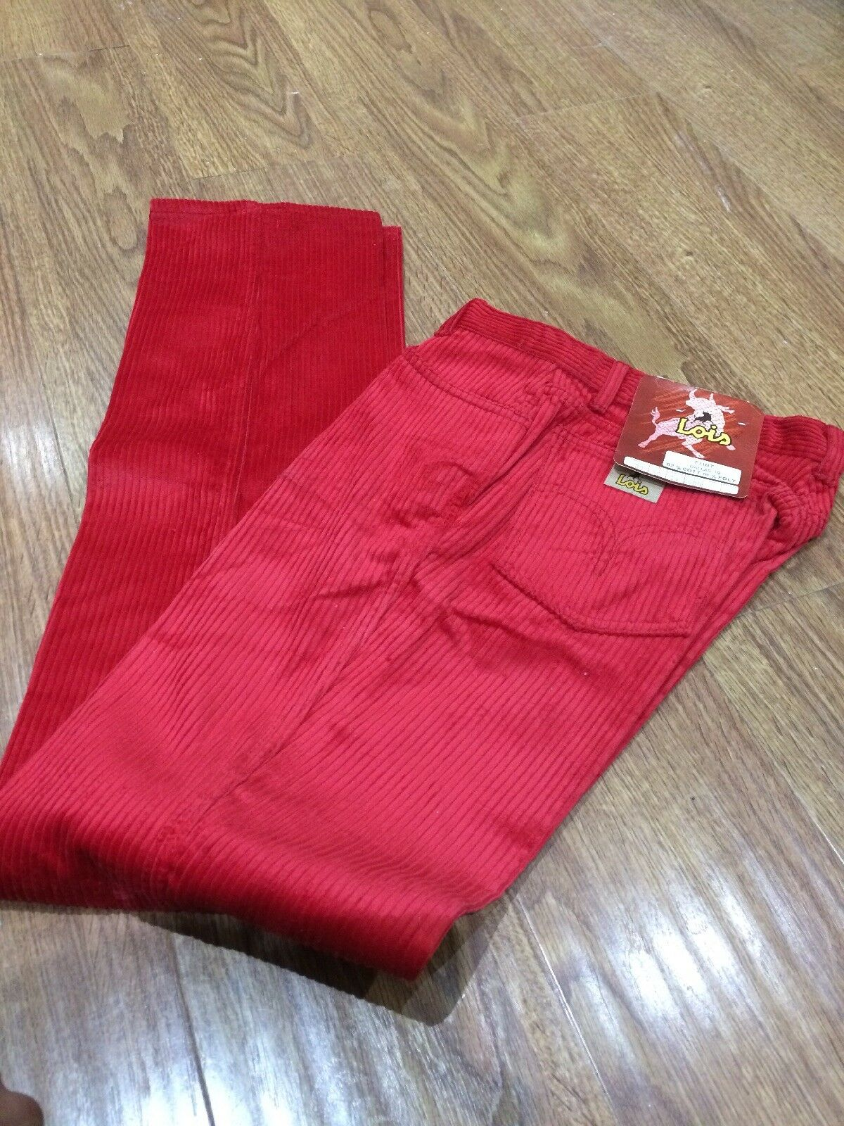 New Lois Cords, Red, 31W, Collectible, From The 80's