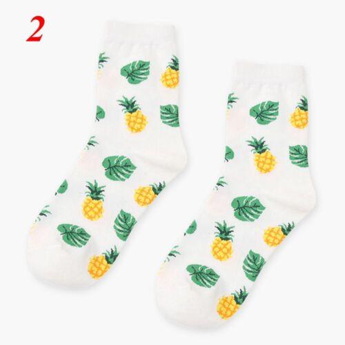 Ananas Früchte Socken Baumwolle Strümpfe Zitrone Blaubeere Orange