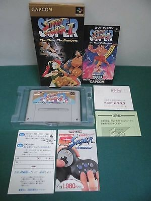 SNES -- SUPER STREET FIGHTER 2 -- Boxed. Postcard etc. Japan game. work fully.