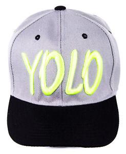 e05d8e3271586 Das Bild wird geladen Basecap-YOLO-Baseball-Cap-Snapback-hat-Hip-Hop-