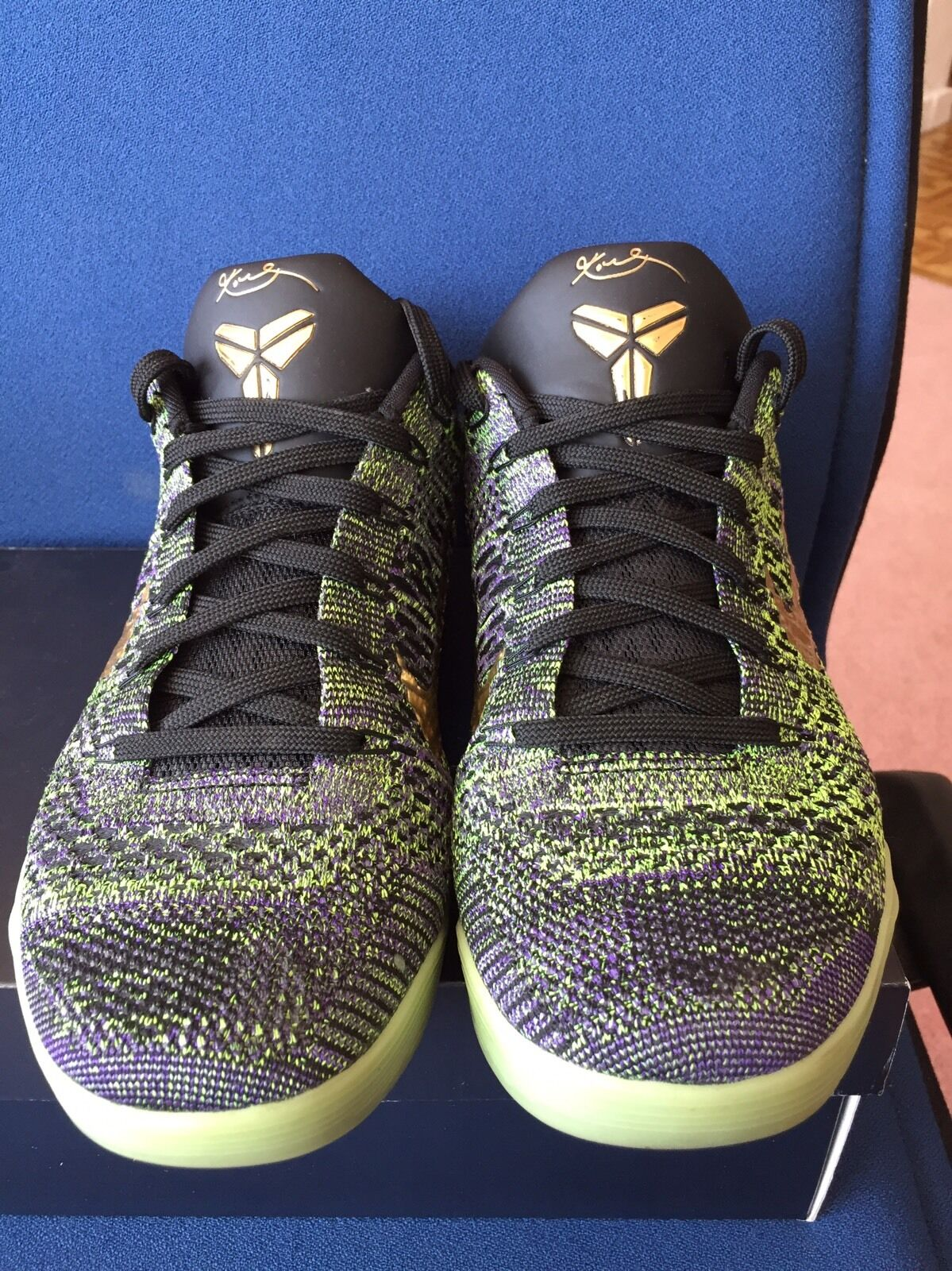 Nike Kobe 9 IX Elite Low iD Mamba 9.5 Moment Multi Color Black Green Glow Gold 9.5 Mamba c071c0