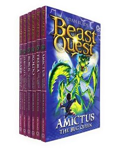 Beast-Quest-Series-5-The-Shade-of-Death-By-Adam-Blade-Collection-6-Books-set-New