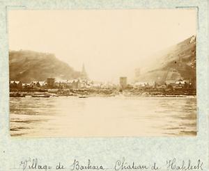 Allemagne-Bacharach-le-chateau-Stahleck-vintage-albumen-print-Photos-provena