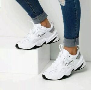 Detalles acerca de Nike M2K Tekno Mujer Calzado para Correr BQ3378-100  Blanco Negro Informal Tenis- mostrar título original