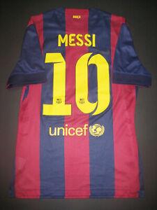 finest selection 928cb 841e8 Details about 2014-2015 Nike Authentic FC Barcelona Jersey Shirt Lionel  Messi Match Argentina