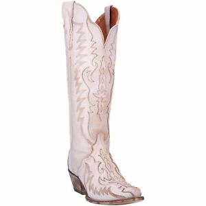 cbe7d09dd6e Image is loading Dan-Post-Ladies-Hallie-Bone-Knee-High-Western-
