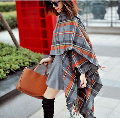 Women Blanket Oversized Tartan Scarf Wrap Shawl Large Plaid Checked Pashmina
