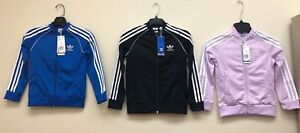 NEW ADIDAS KIDS J SST TRACK JACKET, ASST STYLE #S, COLORS